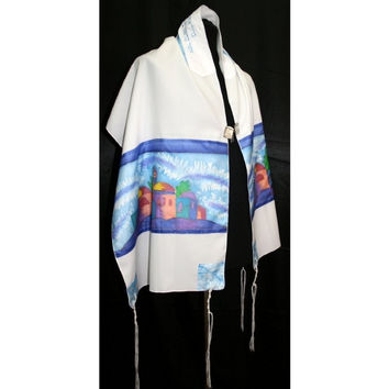 Jerusalem Shades Of Blue Tallit