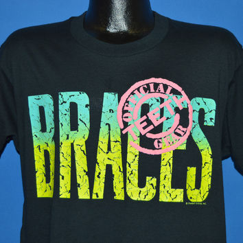 80s Braces Official Teeth Gear t-shirt Large