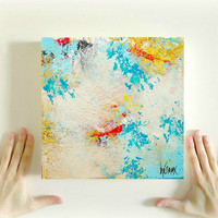 Abstract Painting Modern wall art, Original modern ABSTRACT Art painting on canvas 10x10 inch, Home decor, Art by Heroux