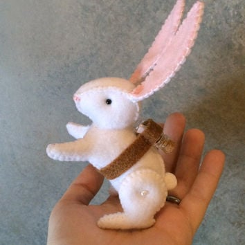 Keepsake New Baby Love Messenger Bunny Rabbit