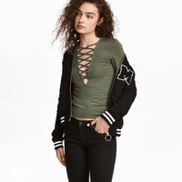 H&M Top with Lacing $17.99