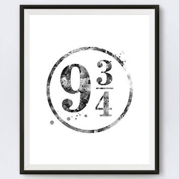 Hogwarts Express 9 3/4 Art Print 9 3/4 Poster Harry Potter Print Wall Art Harry Potter Gifts Platform 934 Office Decor Digital Download