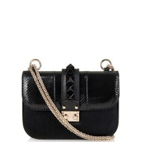 Lock small snakeskin and calf-hair shoulder bag | Valentino | MATCHESFASHION.COM US
