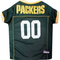 Green Bay Packers Dog Jersey - Yellow Trim Xtra Large