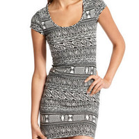 Charlotte Russe - Bold Aztec Body-Con Dress