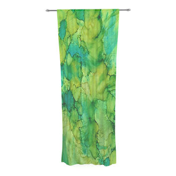 "Rosie Brown ""Going Green"" Emerald Decorative Sheer Curtain"