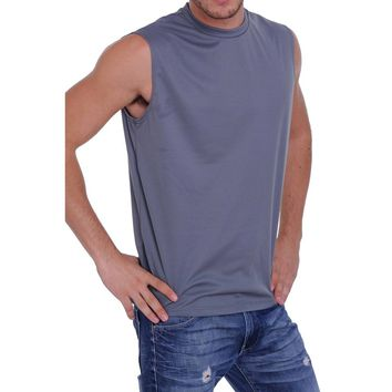 Men's Mesh Dri Fit Light Weight Sleeveless Shirt Workout Gym Made in the USA