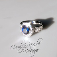 Custom Who Engagement Ring (Lifetime SS) by Carolyn Nicole Designs
