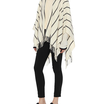 Rag & Bone Striped Poncho at INTERMIX | Shop Now | Shop IntermixOnline.com