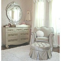 Aspen Empire Glider In Choice Of Color : Sleepy In Silver at PoshTots