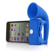 Horn Stand Speaker Loudspeaker Amplifier Silicone for Apple Iphone 4 4g Blue by N MARKET