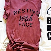 Resting Witch Face Tee (final sale)