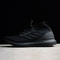 Best Online Sale Adidas Ultra Boost ATR Trace Mid Triple Black Boost Men Sport Shoes BY8925