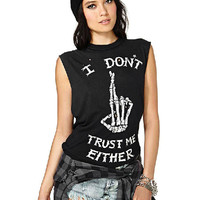 Black Letter and Finger Print Tank Top not available