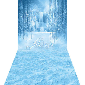 Frozen Enchanted Forest Backdrop, perfect for birthday party and princess themed dress up parties - Fab Vinyl (FD5034)