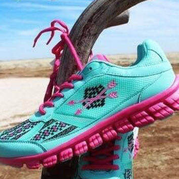 Turquoise Arrow tennis shoes