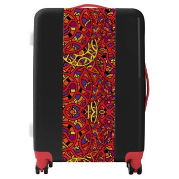 Colorful Organic Pattern Luggage
