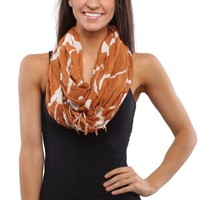 Texas Longhorns Ladies Logo Infinity Scarf - Burnt Orange