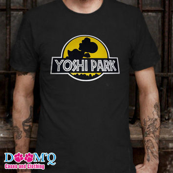 yoshi park Black T-Shirt By : Doomqcases Men's T-Shirt S, M, L, XL