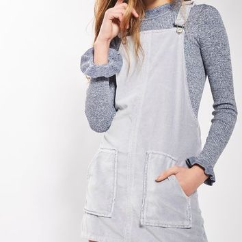MOTO Dusty Lilac Velvet Pinafore Dress