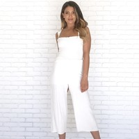 Close To Love Linen Jumpsuit In Ivory