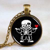 Pre- Order Undertale Sans or Flowey brass necklace
