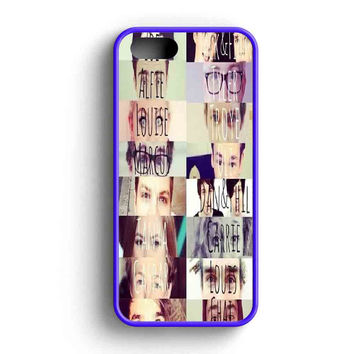 Youtubers Collage Funny Eye  iPhone 5 Case iPhone 5s Case iPhone 5c Case