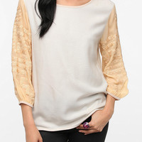 Urban Outfitters - Staring at Stars Embellished-Sleeve Blouse
