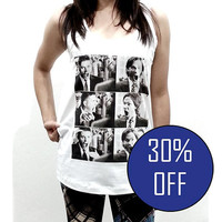 Supernatural Shirt Tank Top Sam Dean Winchester Fight Scene Women Sleeveless Tshirt Crop Top Side Boob