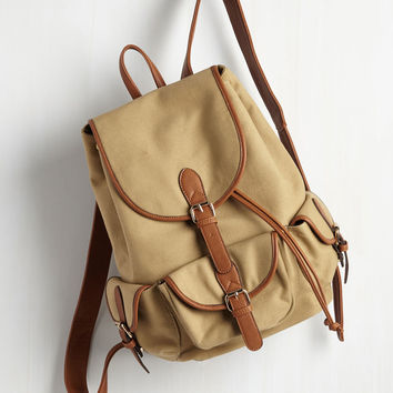 Backpack to the Future Bag in Tan | Mod Retro Vintage Bags | ModCloth.com