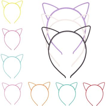 Bonnie Z. Leonardo Halloween Candy Colors Cat Ears Headband Set Value Pack 10PCS