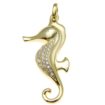 Shop sterling silver seahorse pendant on wanelo yellow gold solid 925 sterling silver hawaiian seahorse pendant cz aloadofball