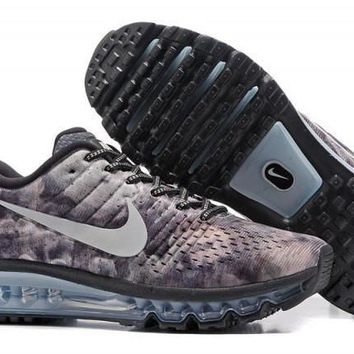 New Arrivel Nike Air Max 2017 Camouflage Grey Men's Running Shoes Sneakers
