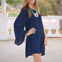 Open To It Dress, Navy