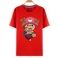One Piece Tony Chopper Red Anime T-Shirt