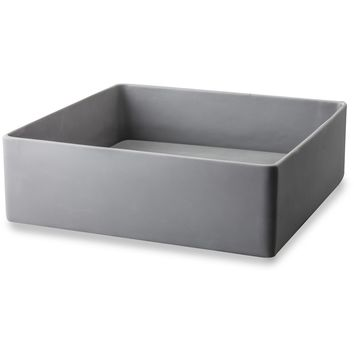 CP Gray Conceal Drain Vessel Sink Above Counter Sink Lavatory for Vanity, Resin