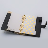 Abook freeshipping 2018 new notebook planner stationery Gold inside page 5pcs set A5 A6 dividers plate filler papers planner