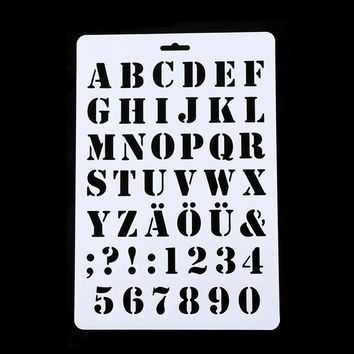 1PC NEW DIY Letter Alphabet Number Layering Stencils Painting Scrapbooking Paper Cards Craft
