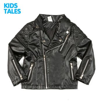 Spring Kids Jacket PU Leather Girls Jackets Clothes Children Outwear For Baby Girls Boys Clothing Coats Costume Unisex 1-7 Years