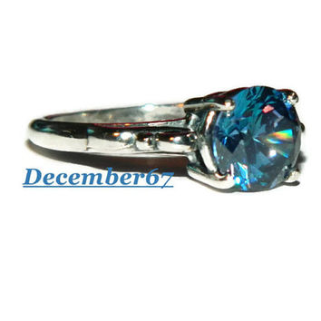 Blueberry Diamond Ring, Engagement Ring, Middle Finger Ring, 3.75 Carats