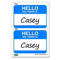 Casey Hello My Name Is - Sheet of 2 Stickers