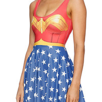 Wonder Woman Dress, Wonder Woman Shirt, Wonder Woman Costume Cosplay, Comics Marvel, Batman, Superman, Super Woman, Superwoman - One Size