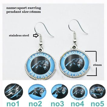 10 Pairs Prevent Allergy Earring Carolina Panthers Drop Earring 5 Styles For Choosing