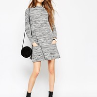 ASOS PETITE Swing Dress with Pockets in Space Dye