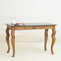 Handcarved Writing Desk by Anthropologie Green One Size Furniture
