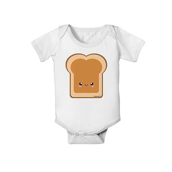 Cute Matching Design - PB and J - Peanut Butter Baby Romper Bodysuit by TooLoud