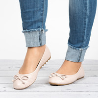 Bow Ballet Flats - Taupe
