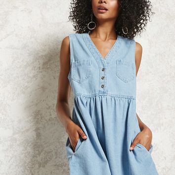 Denim A-Line Dress