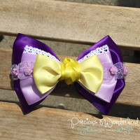 Disney Inspired Tangled Rapunzel Hair Bow