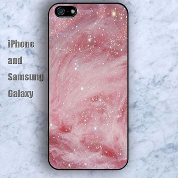 Pink Nebula Stars iPhone 5/5S case Ipod Silicone plastic Phone cover Waterproof